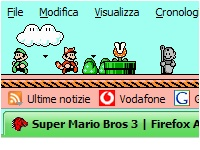 Super Mario Bros 3 Firefox Theme