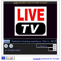 live tv google gadget