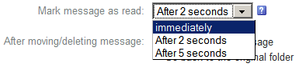 Set messages to be read as soon as you click on them