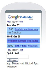 google calendars on mobile devices