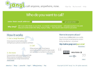 call anyone with jangl