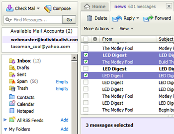 Yahoo Ads Back the Checkbox to Yahoo Mail