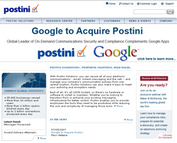 google to acquire postini