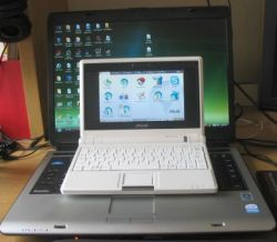 Asus Eee PC and Toshiba A135-S4527