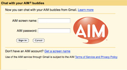 AIM in Gmail
