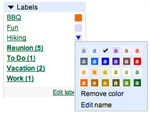 Gmail adds colored labels