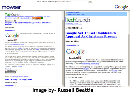Mowser v Google Reader
