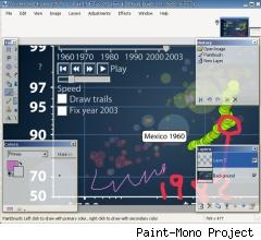 Screen shot of Paint-Mono from Paint-Mono Project