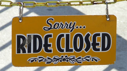 Sorry, ride closed