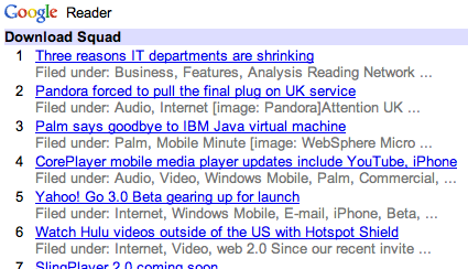 mobile life google reader