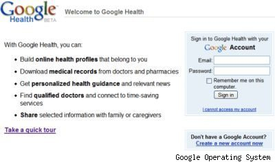 Google Health login