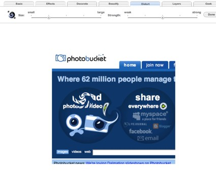 Photobucket + Fotoflexer