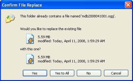 confirm file replace