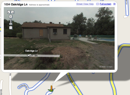 google maps street view of oakridge lane