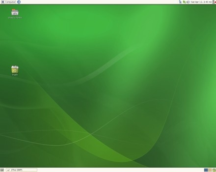 openSUSE desktop. Plain, green, but a LOT to love here.