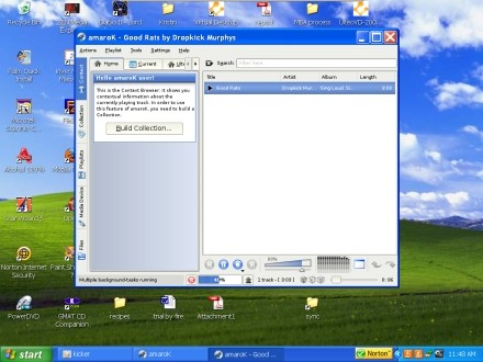 Amarok 1.3 on Windows XP.