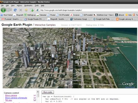 Google Earth browser plugin