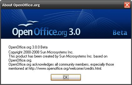 OpenOffice.org 3.0 beta