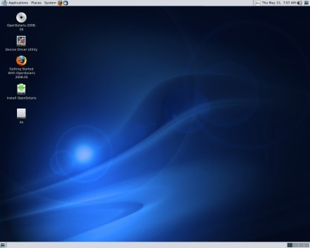 OpenSolaris desktop. Pretty. A really, really pretty paperweight.