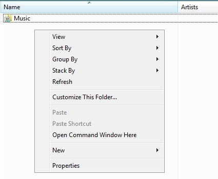 command pompt window right-click + shift