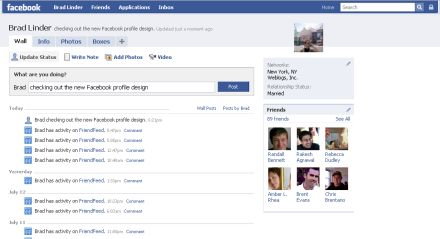Facebook new profiles