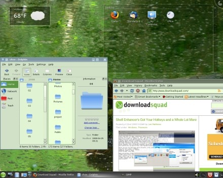 KDE 4.1, with widgets and stuff