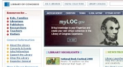 LoC website
