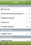 Zenbe Lists iPhone app