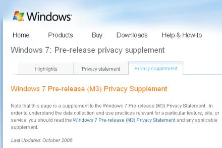 Windows 7 privacy