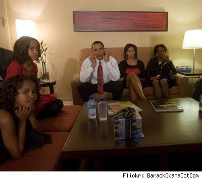 Obama family on election night