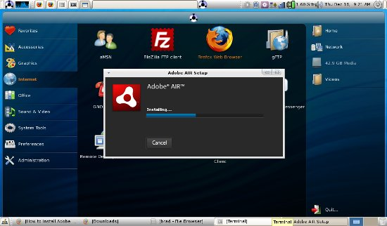 Adobe AIR 1.5 for Linux