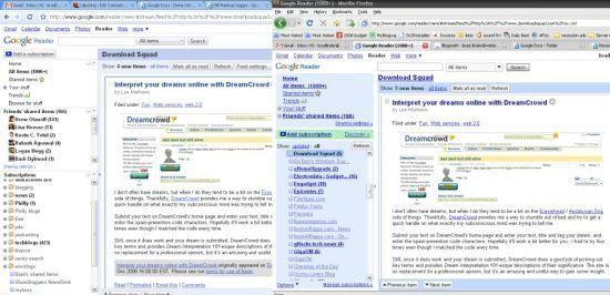 Google Reader comparison