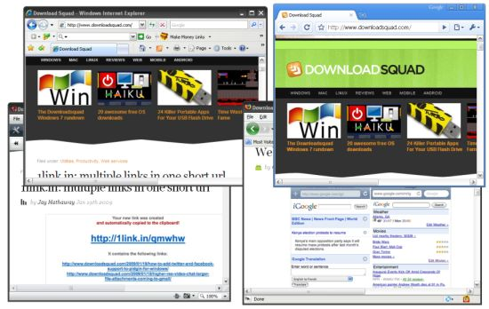 4 browsers