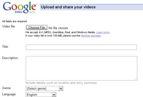 Google Video Uploads