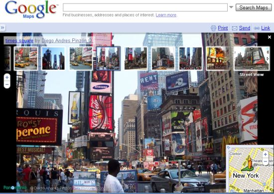 Google Street View user generated photos