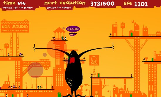 Humanity suffers your wrath in Monster Evolution - Time Waster