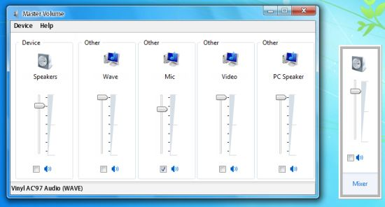 Windows 7 Volume mod