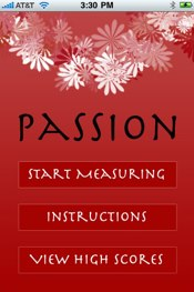 Passion iPhone app