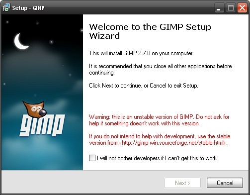 Gimp 2.7 beta
