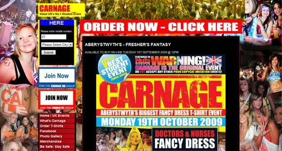 Truly hideous - Carnage UK website. Does not do the blinking bits justice.