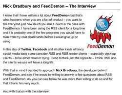 Nick Bradbury Interview