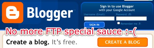 Blogger no FTP