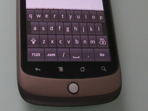Nexus One keyboard