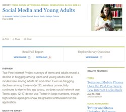 Social Media and Young Adults