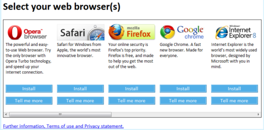 EU Browser Choice Screen