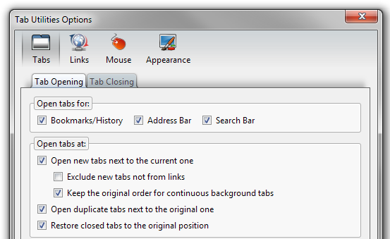 Tab Utilities