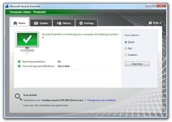 Microsoft Security Essentials MSE 2