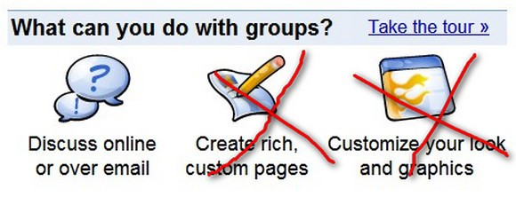 Google Groups feature changes