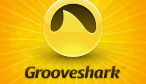 Grooveshark Android start screen