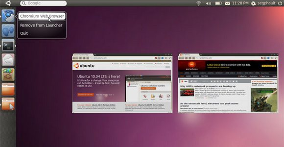 Ubuntu Unity screenshot